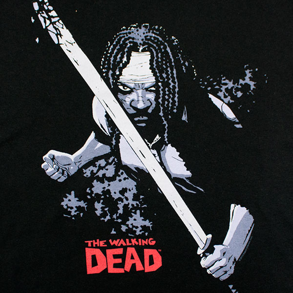 Walking Dead Michonne Tee Shirt Black