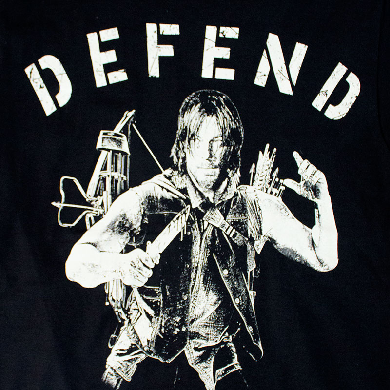 Walking Dead Men's Black Defend The Living Tee Shirt