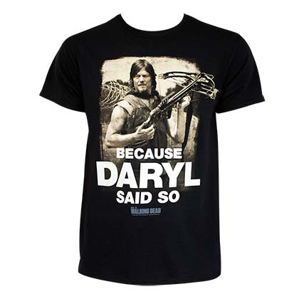 Walking Dead Daryl Said So Tee Shirt