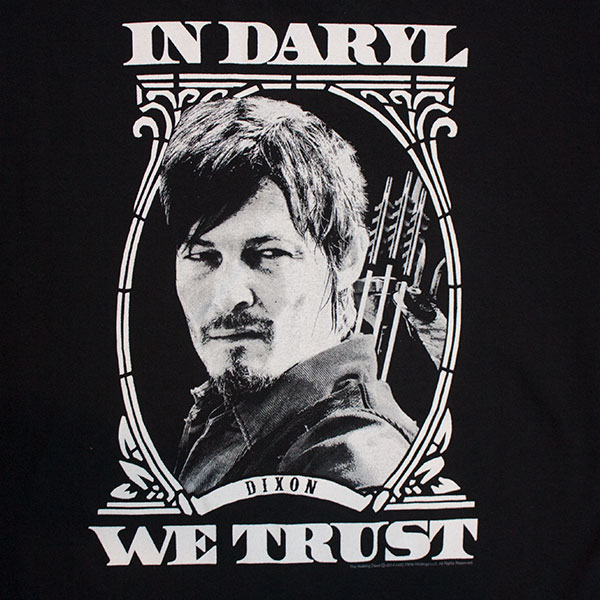 Walking Dead Black In Daryl We Trust Tee Shirt