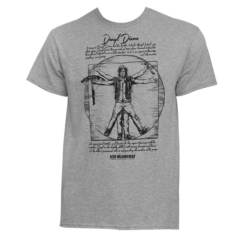 Walking Dead Vitruvian Daryl Dixon Tee Shirt