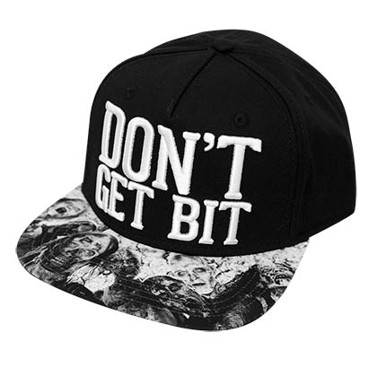 Walking Dead Don't Get Bit Snapback Hat