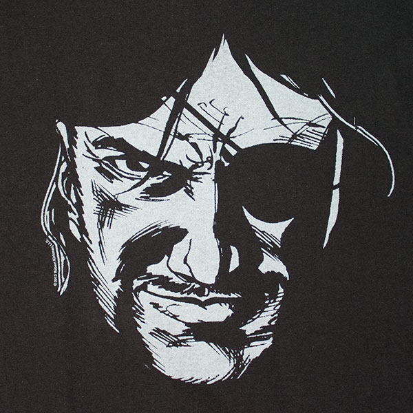 Governor Eye Patch Walking Dead Shirt - Black