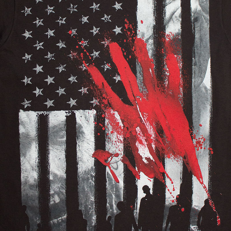 The Walking Dead Bloody Hand Print Tee Shirt