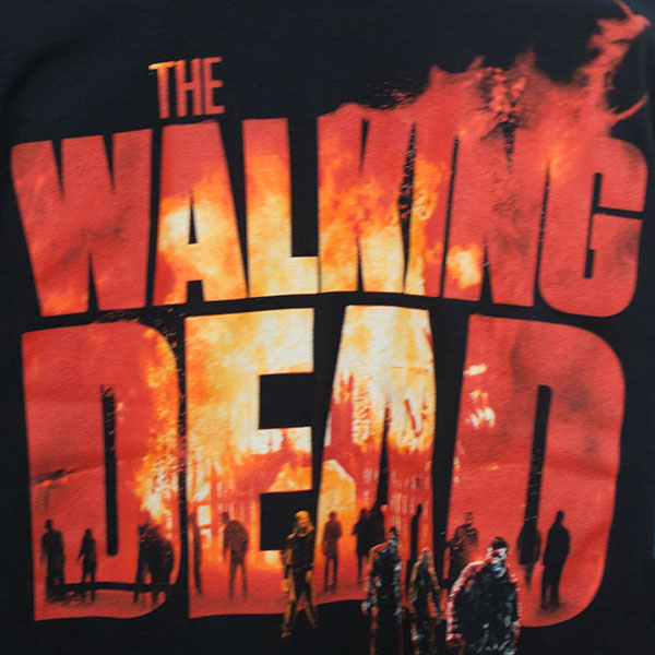 The Walking Dead In Flames Shirt