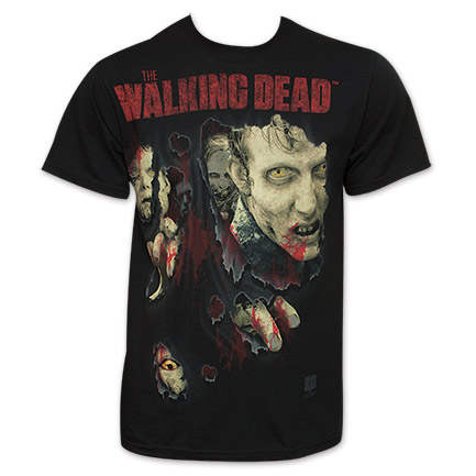 The Walking Dead Walkers Busting Through Tee - Black
