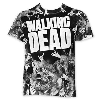 Walking Dead Sublimated Grabbing Tee Shirt