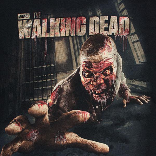 The Walking Dead Crawling Zombie Men's T-Shirt