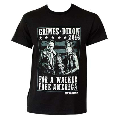 Men's Walking Dead Grimes Dixon 2016 Tee Shirt