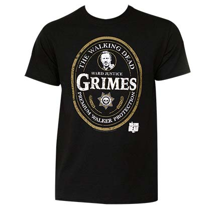 Men's Walking Dead Grimes Emblem Tee Shirt