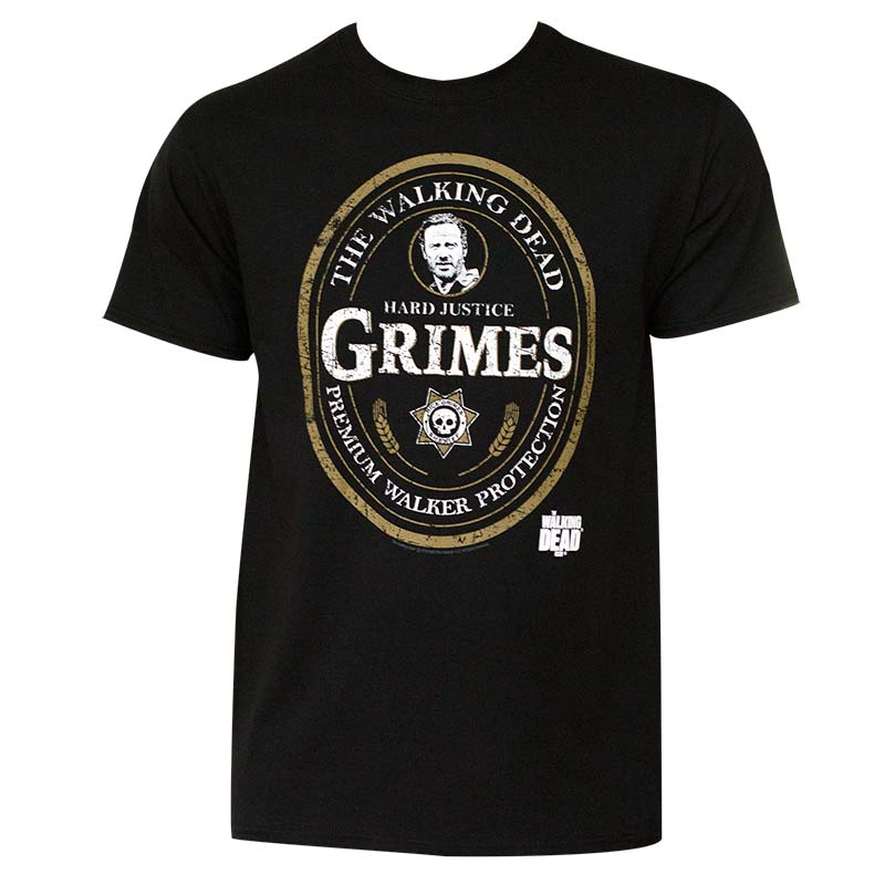 Men's Walking Dead Grimes Emblem Tee Shirt