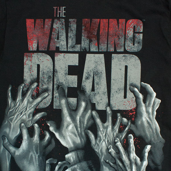 9a87c53f1 The Walking Dead Walker Reaching Hands Logo T-Shirt | TVMovieDepot.com