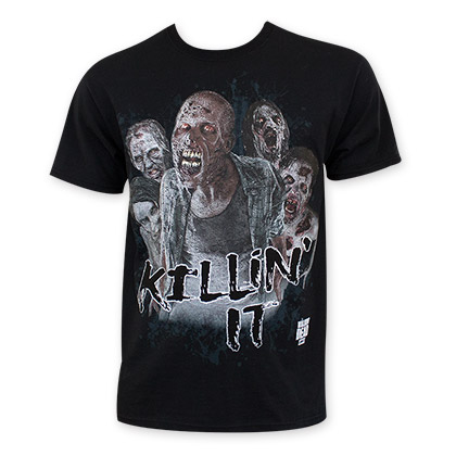 Walking Dead Men's Black Killin It Zombie T-Shirt