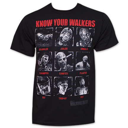 The Walking Dead Know Your Walkers T-Shirt - Black