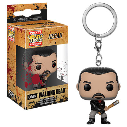 Walking Dead Funko Pop Negan Pocket Keychain
