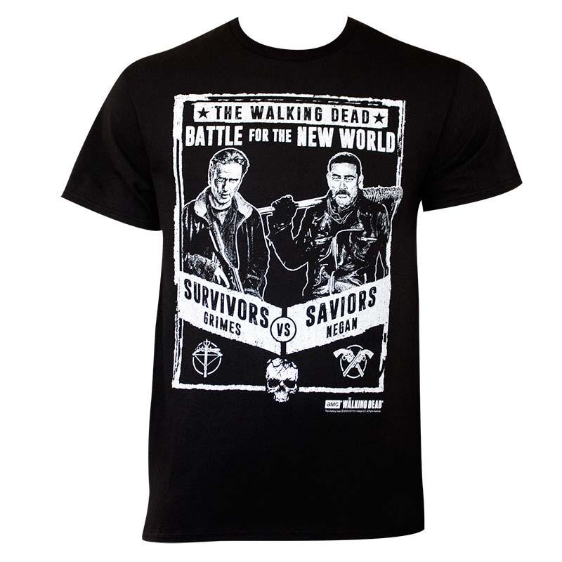 Walking Dead Grimes Vs Negan Poster Tee Shirt