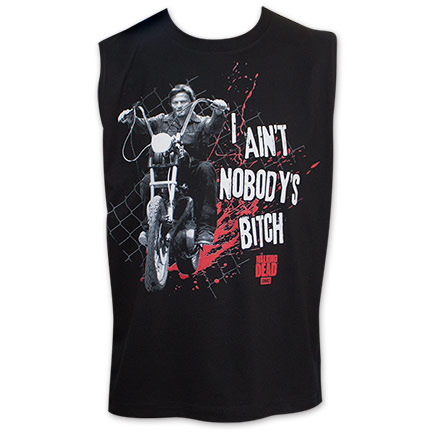 Walking Dead I Ain't Nobodies Bitch Men's Tank Top