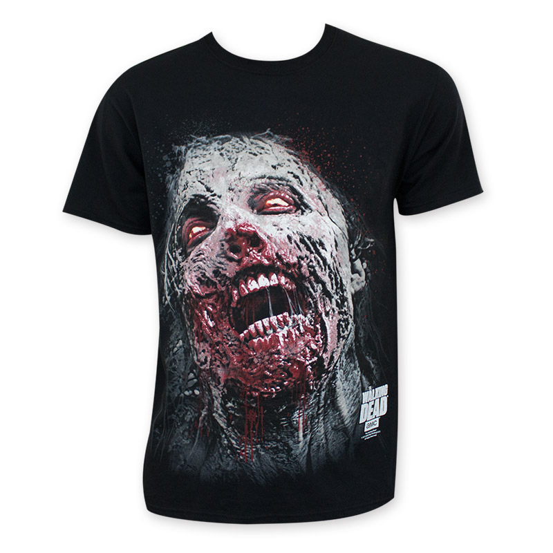 Walking Dead Zombie Face Tee Shirt
