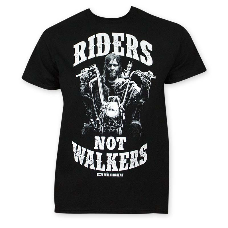 Walking Dead Men's Black Riders Not Walkers Tee Shirt