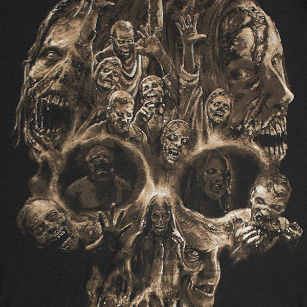 The Walking Dead Zombie Skull Tee - Black