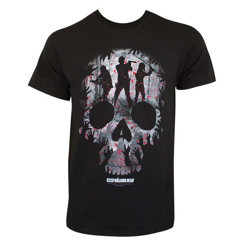 Walking Dead Skull Logo Tee Shirt