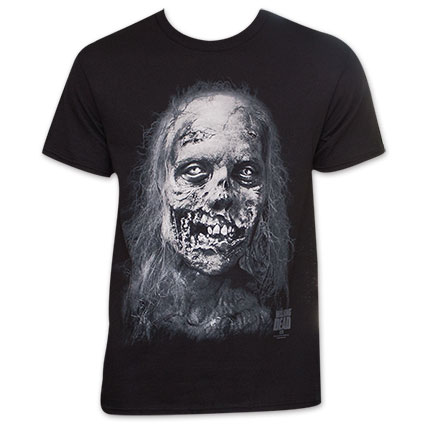 Walking Dead Men's Zombie Face Tee Shirt