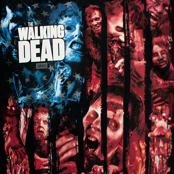 The Walking Dead American Flag Zombie Tee Shirt