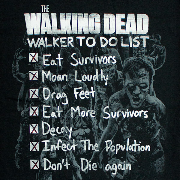 Walking Dead Walker To Do List Shirt