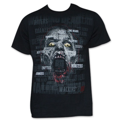The Walking Dead Zombie Names T-Shirt