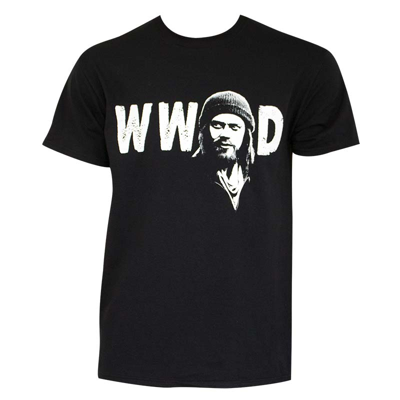 Walking Dead Men's Black What Would Jesus Do T-Shirt
