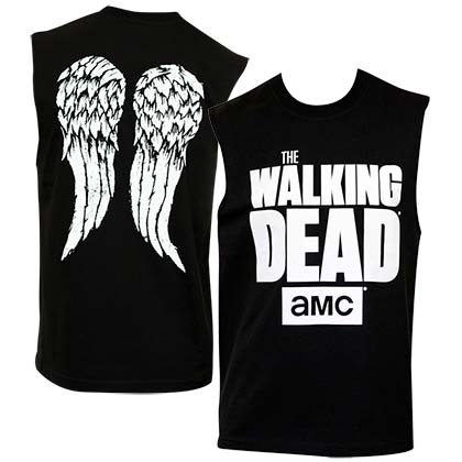 Walking Dead Text Logo Mens Muscle Tank