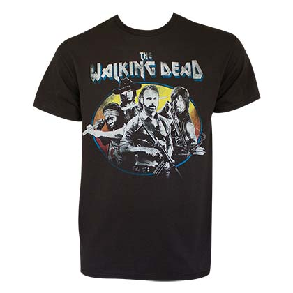 Walking Dead Men's Black Vintage T-Shirt