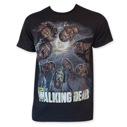 Walking Dead Men's Black Zombie Circle T-Shirt
