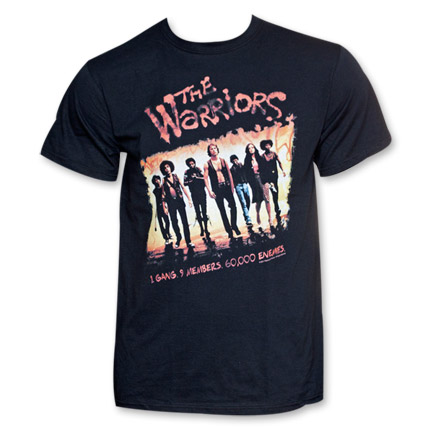 The Warriors Movie Poster T-Shirt - Black