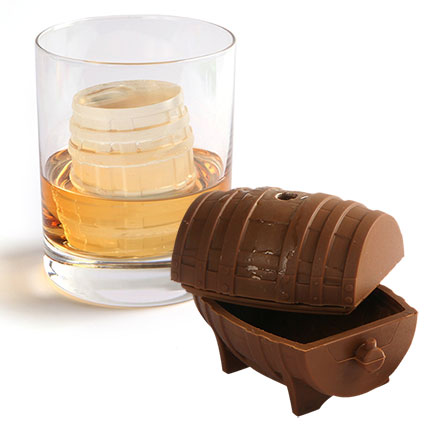 Whiskey Barrel Silicone Ice Cube Mold