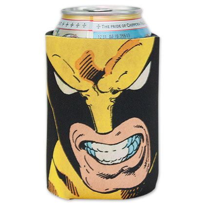 Wolverine Comic Book Face Beer Koozie