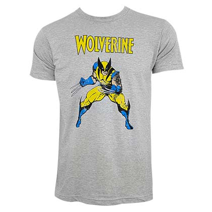Wolverine Men's Grey T-Shirt