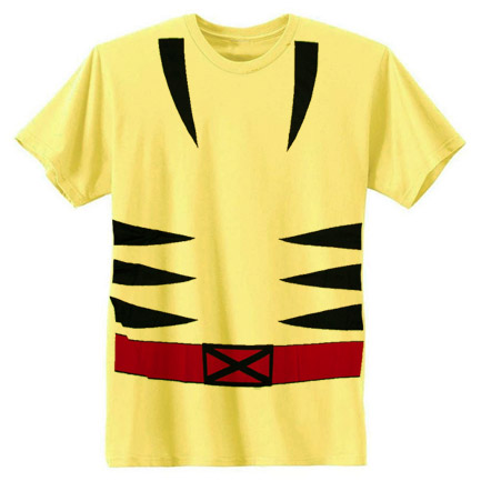 Wolverine Costume T-shirt - Yellow