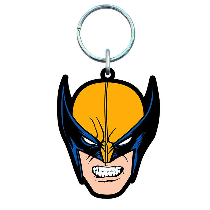 Wolverine X-Men Mask Soft Touch PVC Keychain