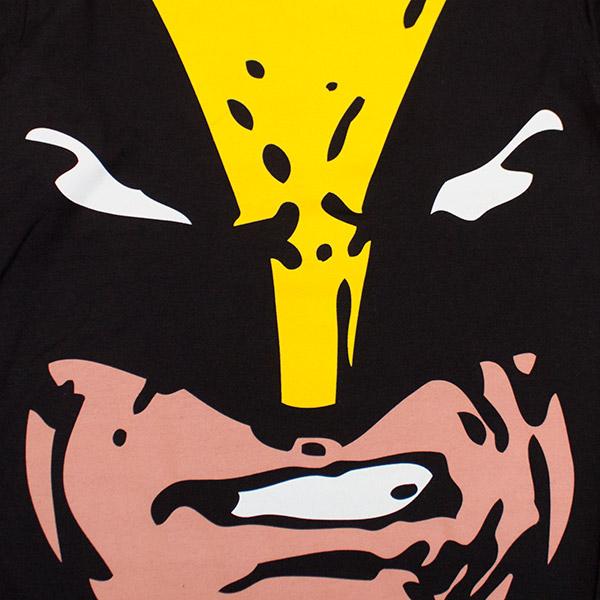 Wolverine Jumbo Face Print Tee Shirt - Black