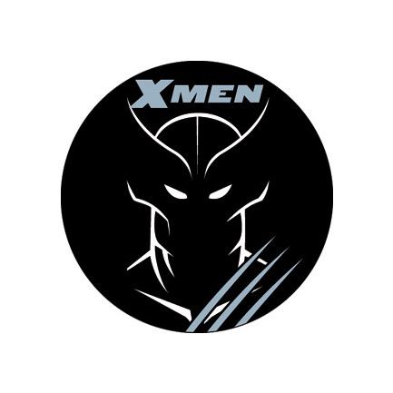 Wolverine Black Line Art Button - Black