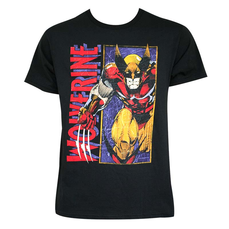Wolverine Men's Black Comic T-Shirt