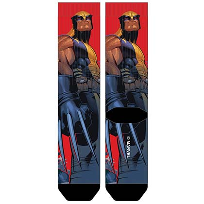 X-Men Men's Sublimated Wolverine Crew Socks