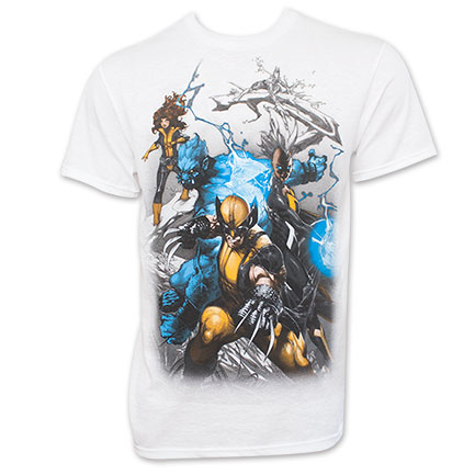 X-Men Attack Stance White T-Shirt