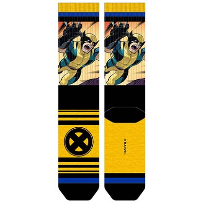 X-Men Men's Sublimated Panel Wolverine Crew Socks