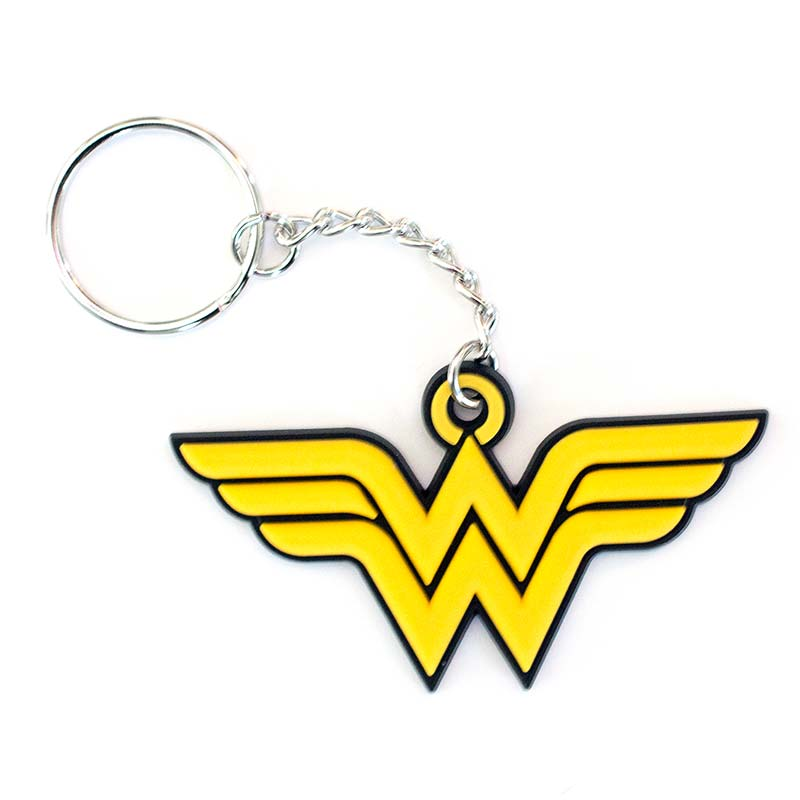 Wonder Woman Comic Rubber Keychain