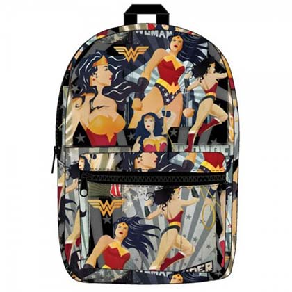 Wonder Woman Superhero Pose All Over Print Backpack