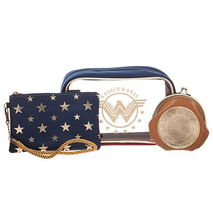 Wonder Woman Authentic Cosmetic Bag Set