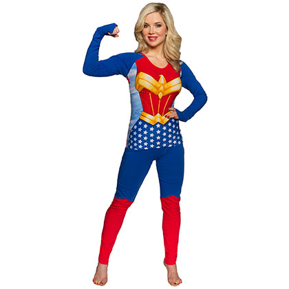 Wonder Woman Costume Shirt Pants Women's Sleep Pajama Set