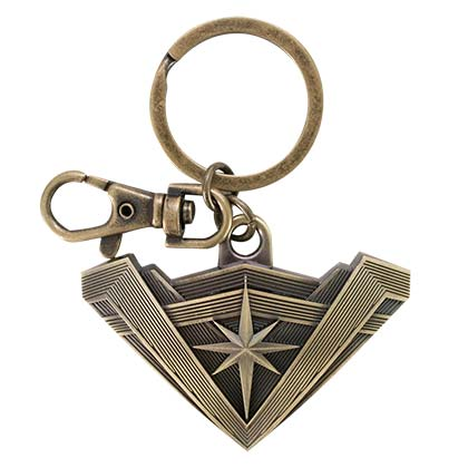 Wonder Woman Bronze Antique Logo Keychain
